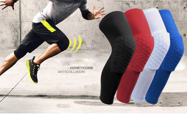 1pcs Honeycomb Sports Kneepad Compression Socks