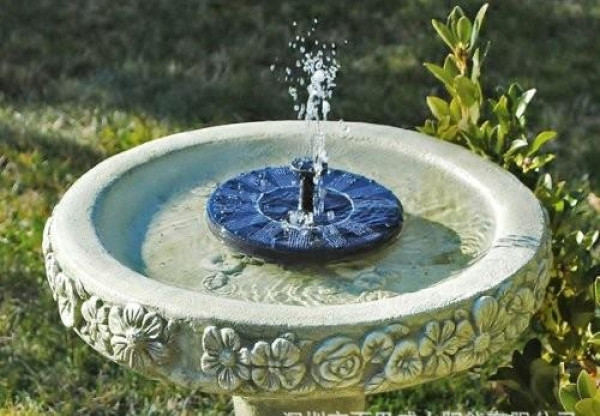 Solar powered fountain to the garden that can also float on the water!