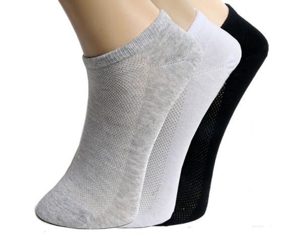 Mens Womens Soft Ankle Cut Sport Socks Cotton Socks Lot White Grey Black Unisex