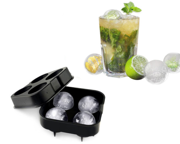 4 Hole Ice Cube Ball  Tray Brick Round Maker