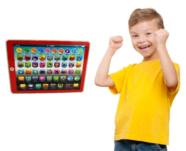 Children touch tablet machine learning English reading educational toys