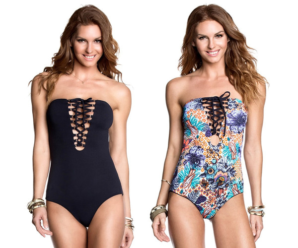 Two side use Sexy Bandage one piece swimsuit for women