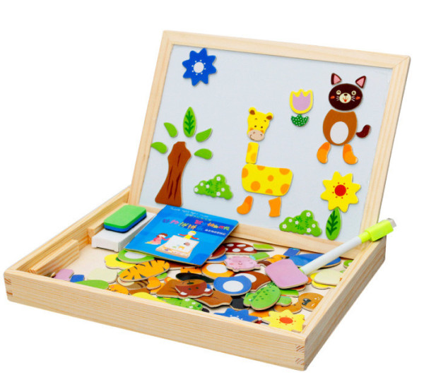 Educational Wooden magnet puzzle animal for kids