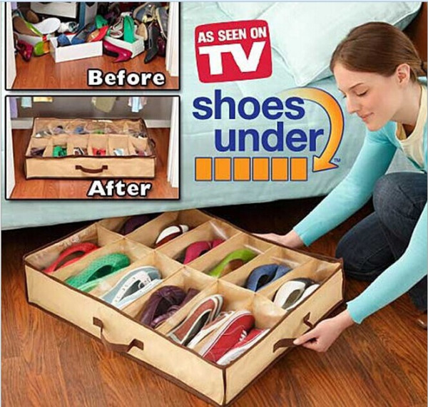 Shoe organizer for 12 pairs of shoes