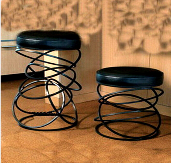 Iron creative chair stool