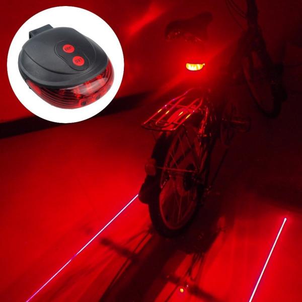 Bike LED Light 2 Lasers Safety Night Cycling Light Mountain Road Bike Rear Lights Lamp Backlight 7 Mode