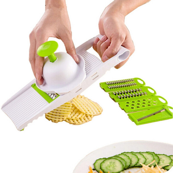 7PCS/Set household kitchen supplies utensils stainless steel blades gadgets fruit vegetable potato cutter grater slicer