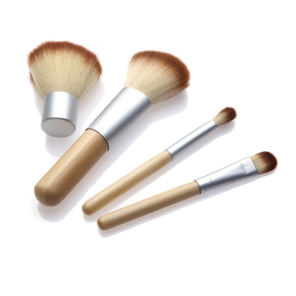 Bamboo makeup brush set 4pcs