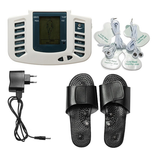 2IN1 Multifunctional Electronic LCD Body Massage Therapy Machine with Foot Slipper Massager