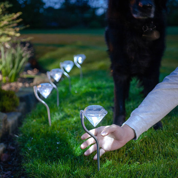 4pcs/set diamond solar lights