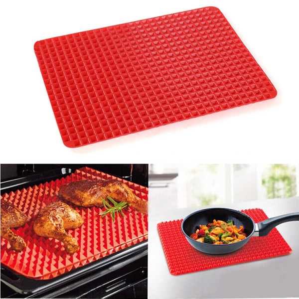 Microwave Oven Baking Pyramid Silicone Pan Mat