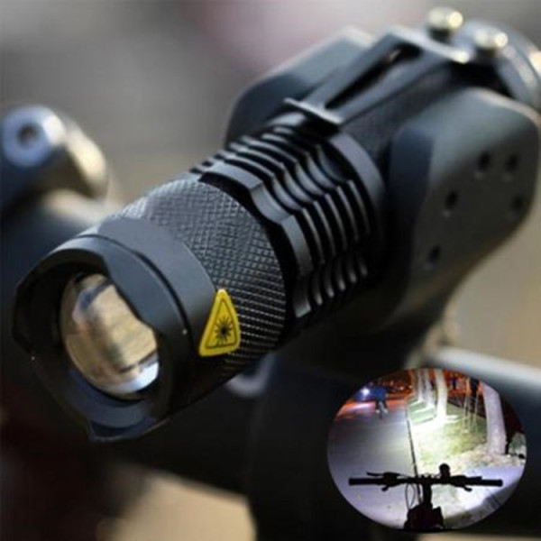 CREE Q5 LED 3 Modes Adjustable Focus Zoomable Flashlight