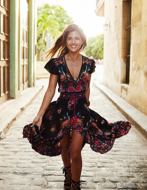 Summer Bohemian Vintage Print Dress