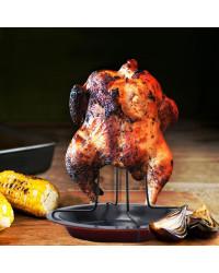 Carbon Steel Upright Chicken Roaster Rack
