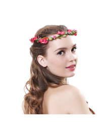 Peach blossom Garland Hairband