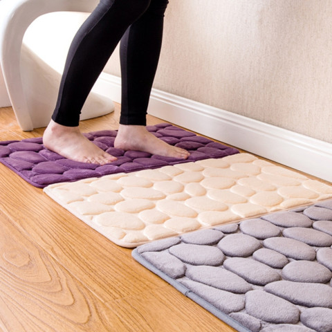 3D Absorbent Cobblestone Door Mat