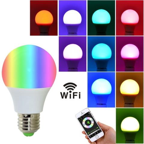 4.5w E27 RGB WIFI LED Lights