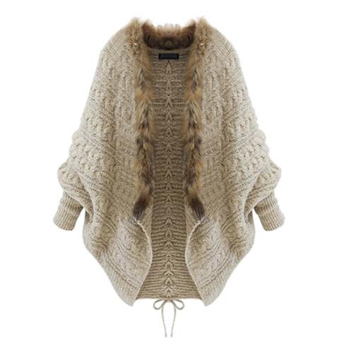 Loose Batwing Sleeve Sweater Cardigan