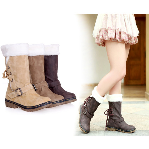 Women winter thickened snow boots