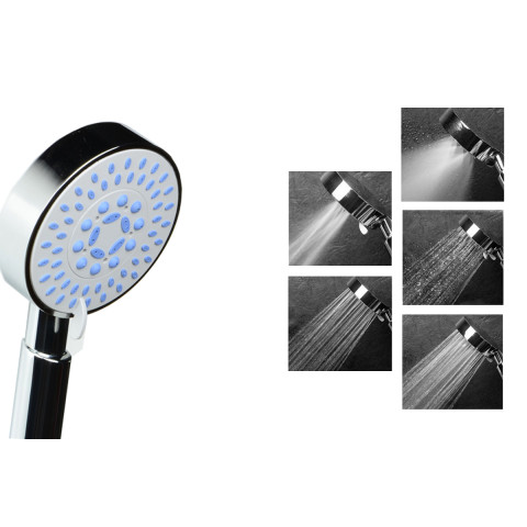 5 Functions  Supercharged Handheld Rain Shower Head