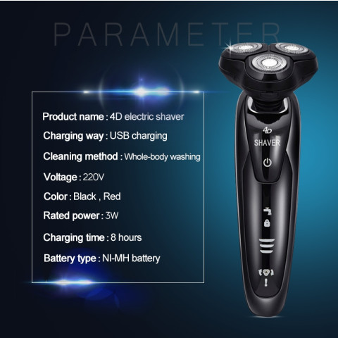 Men's 4D Electric Shaver 4 IN 1 Beard Trimmer