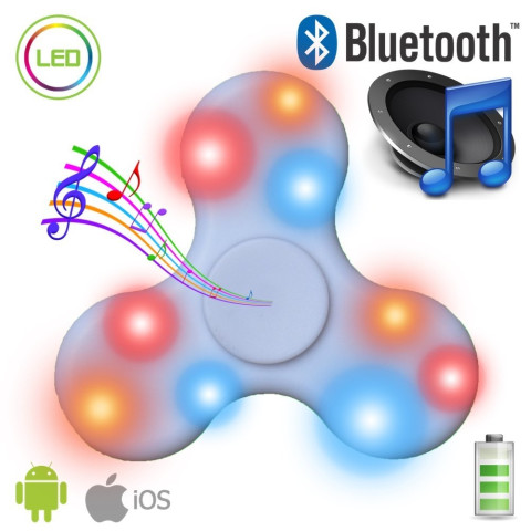 Led bluetooth finger spinner