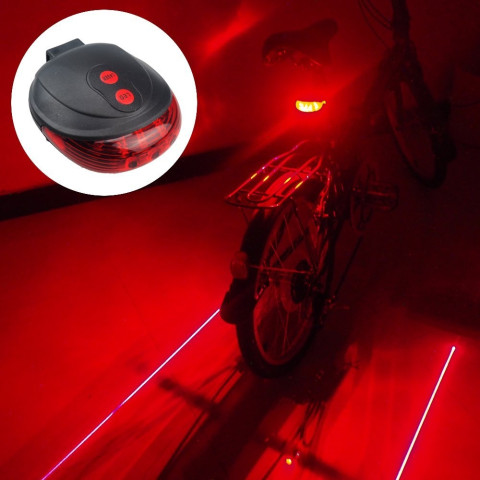 Bike LED Light 2 Lasers Safety Night Cycling Light Mountain Road Bike Rear Lights Lamp Backlight 7 Mode
