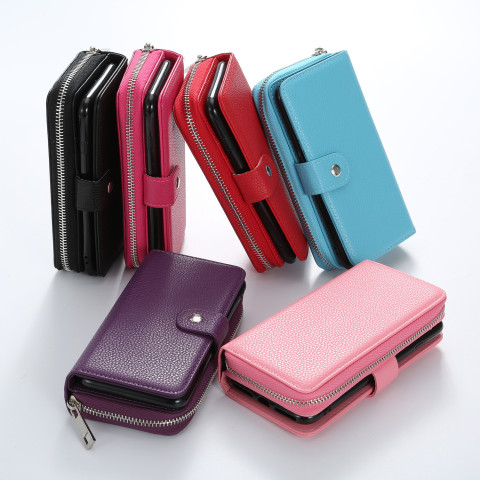 Zipper  Wallet Case Cover