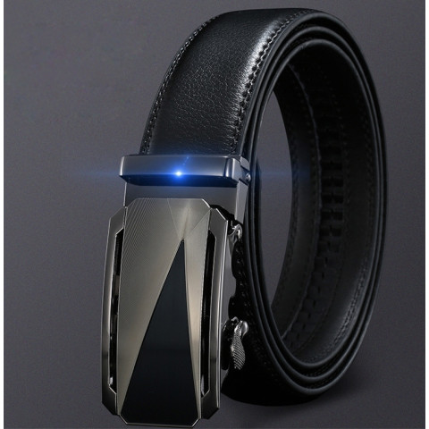 Leather Automatic Buckle Mens Belts
