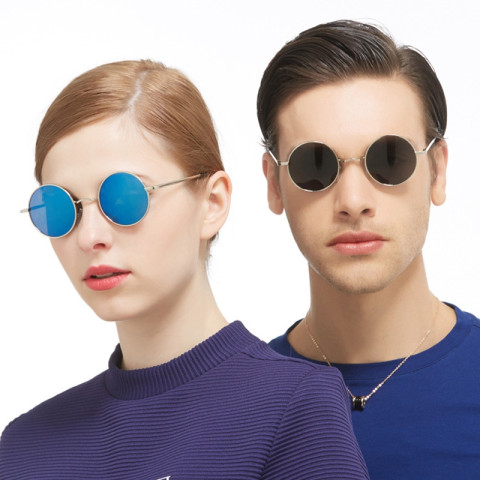 Anti-UV Round Polarized Sunglasses
