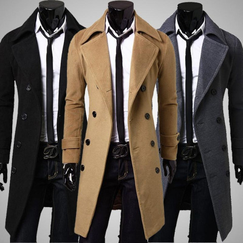 Double Breasted Luxury Coat For Men