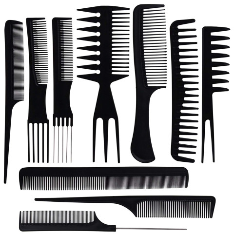 10pcs/Set Professional Hair Brush Comb