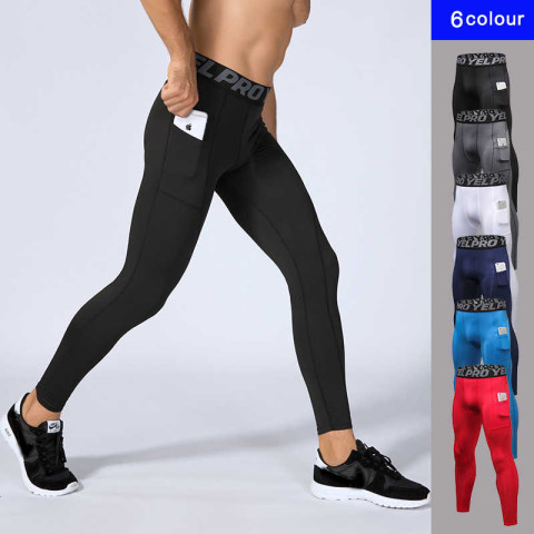 Men's Compression Sports Tights with Pocket
