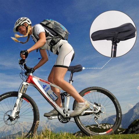 Thickened Silicone Bike Saddle Cushion Fits Narrow Seat