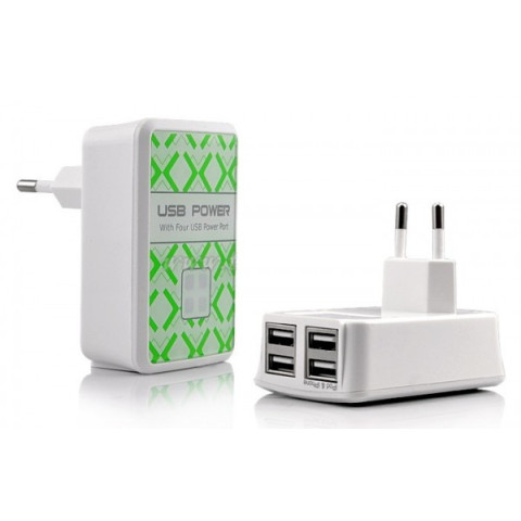 4 USB Port Portable Charger Adapter