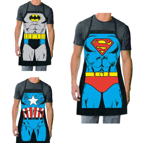 Superhero Batman, Captain America, or Superman Kitchen Apron