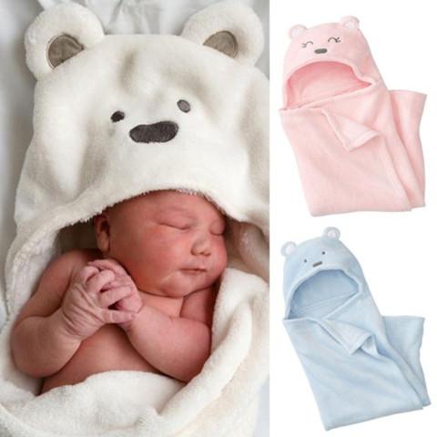Cartoon Bears Coral Velvet Warm Baby Blanket