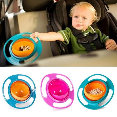 360 Rotating Avoid Food Spilling Baby feeding bowl