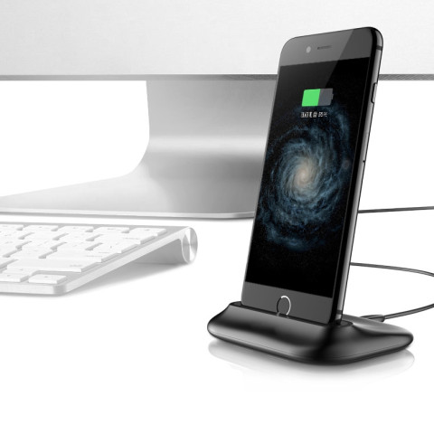 Desktop charging mobile phone holder