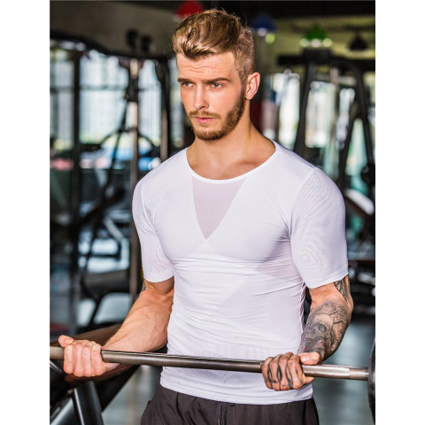 Men Mesh Fabric Compression  body sculpting vest