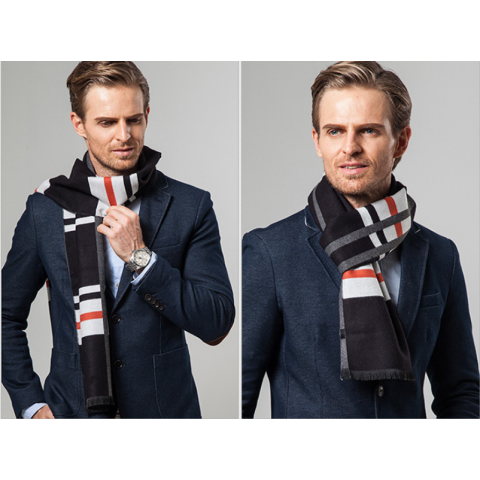 Men Classic Winter Scarf