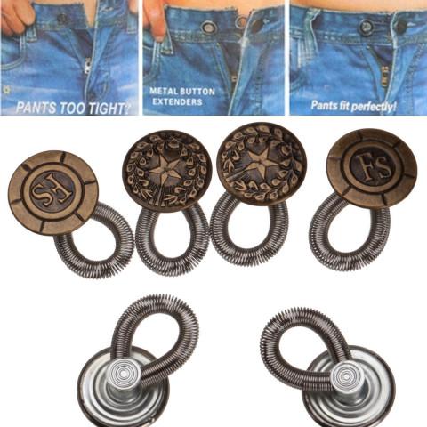 6 Pcs Unisex Jeans Pants Instant Expanders
