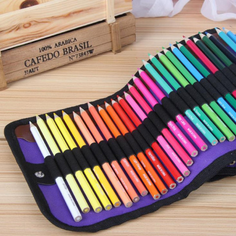 50 Colors Colored Pencils Set