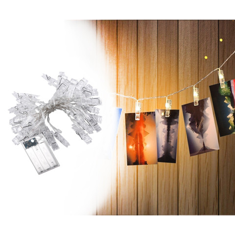 Card Photo Clip String Light
