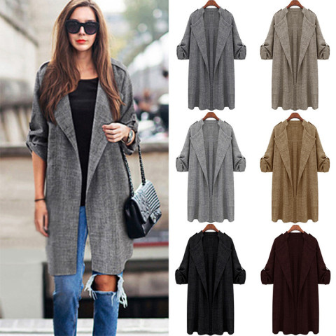 Women's Roll up Sleeve Trench Coat