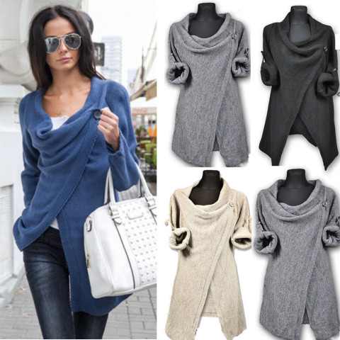 Women Long Knit Sleeve Blouse