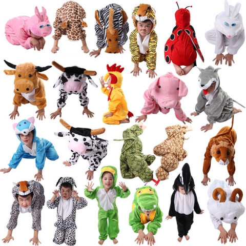Cartoon Kids Animal Costume Cosplay Clothing Jumpsuit for Boy Girl