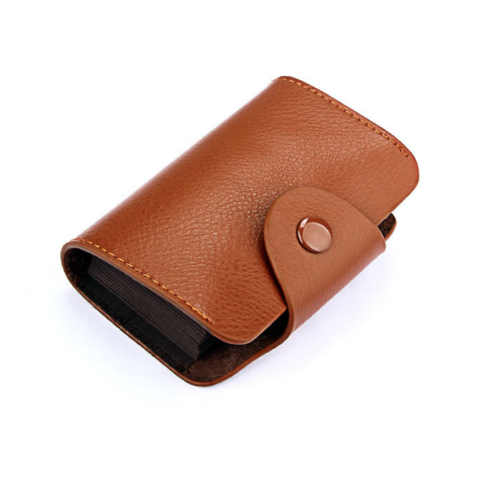 Genuine Leather Unisex Card Wallets