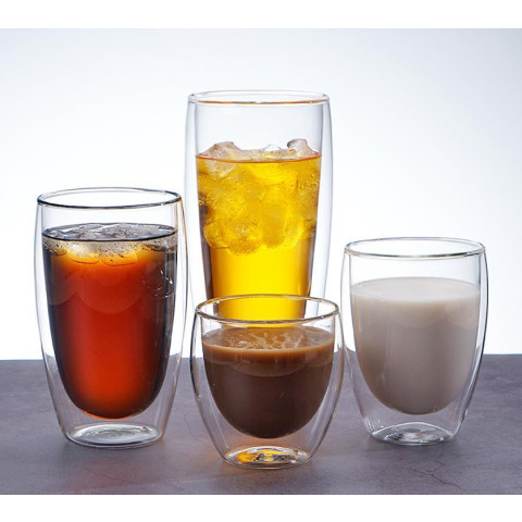 Double layer glass cup