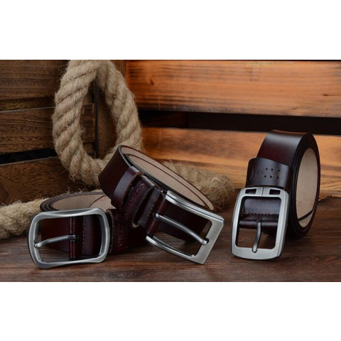 COWATHER cowhide genuine leather belts for men